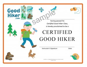 Certified Good Hiker certificate