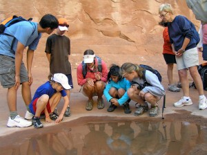 Hiking the Fiery Furnace, Arches National Park, Utah