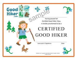 Certified Good Hiker