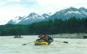 Floating down the Tatshenshini River in Alaska